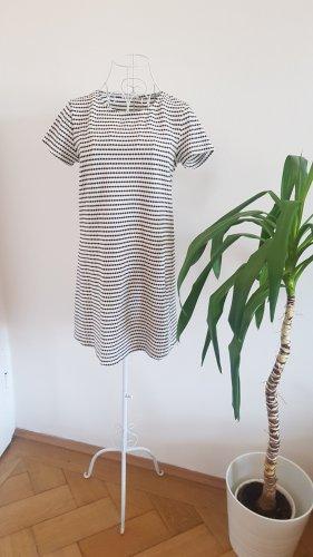 Mango Tunic Dress white-black