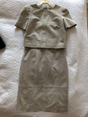 H&M Tailleur gris clair-beige clair cuir