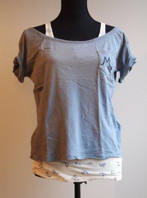 Top und Cropped T-Shirt im Lagenlook / Layerlook