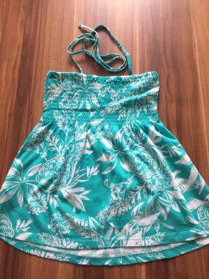H&M Haut bustier turquoise