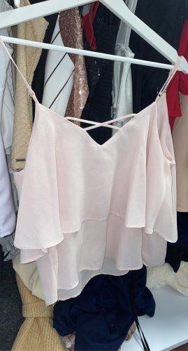 Vero Moda Top koszulowy jasny różowy-różany