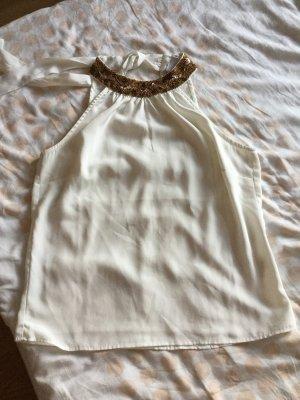 Vero Moda Top senza maniche bronzo-bianco sporco