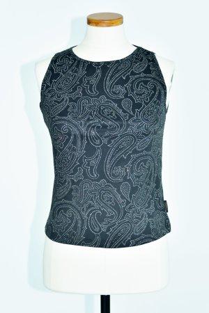 Versace Jeans Top bez ramiączek czarny Poliester