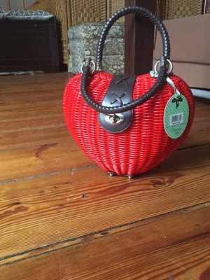 Top-Vintage: Dancing Days By Banned Herz Tasche Rot