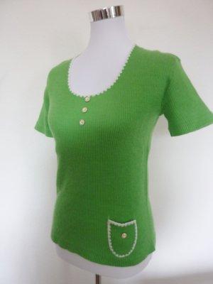 top vintage Rippenshirt apfelgrün Hippie Style Gr 38 40 Rockabilly Retro Chic