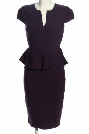 Top Vintage Peplum Dress blue business style