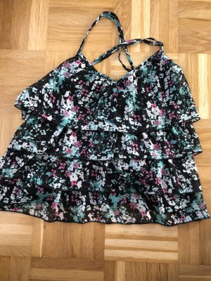 H&M Flounce Top multicolored