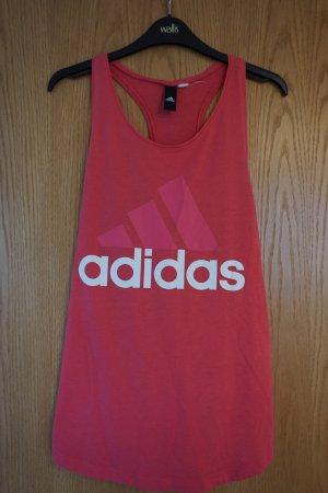 Adidas Débardeur rouge fluo coton