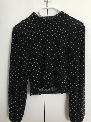 Asos Long Sleeve Blouse white-black