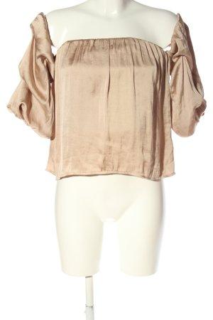 Bardot Top bez ramiączek kremowy-w kolorze różowego złota