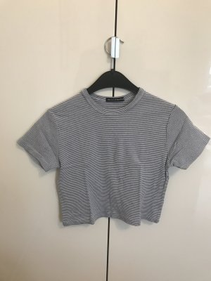 Brandy & Melville Cropped shirt wit-azuur