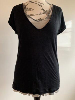 Burberry Brit V-Neck Shirt multicolored modal fibre