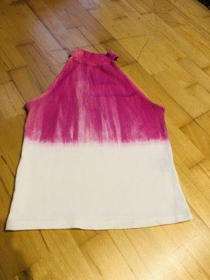 C&A Neckholder Top white-pink