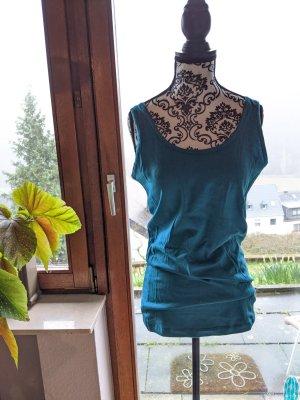 clinic+job dress Top basic blu acciaio
