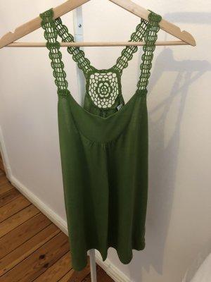 Esprit Szydełkowany top zielony