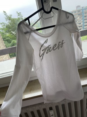 Guess Basic topje wit-zilver