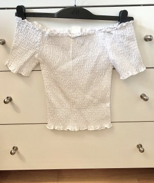 H&M Off-The-Shoulder Top white