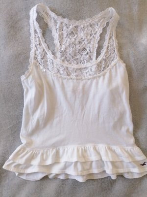 Hollister Top de volantes blanco