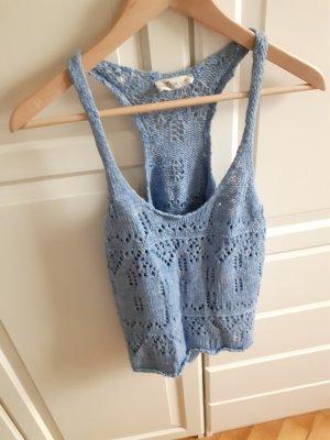 Hollister Haut en crochet bleu azur