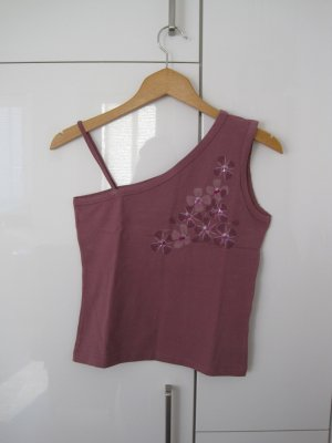 Madonna One Shoulder Top grey lilac-lilac cotton