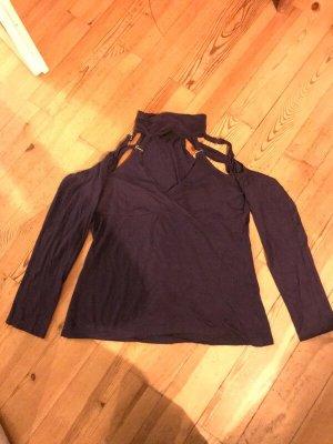 Melrose Cut Out Top dark violet