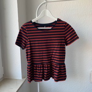Only Frill Top black-red