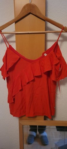 Pepe Jeans Cut Out Top red viscose