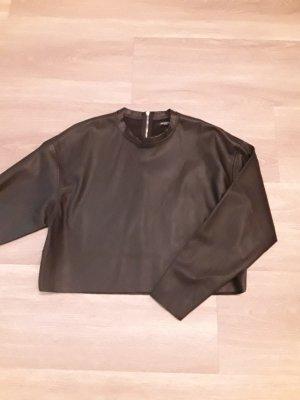 Reserved Skórzana bluzka czarny