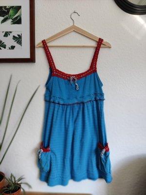 Superdry Lange top rood-blauw