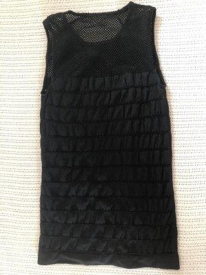 Wolford Top o skróconym kroju czarny Tkanina z mieszanych włókien