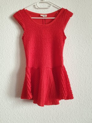 Zara Top z baskinką czerwony