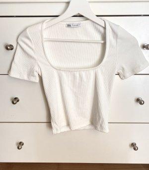 Zara Haut basique blanc