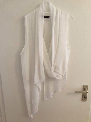 Zara Top con balze bianco