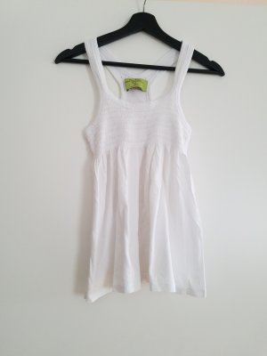 Zara Top a balze bianco