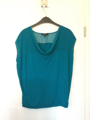 Yessica Cowl-Neck Top cadet blue