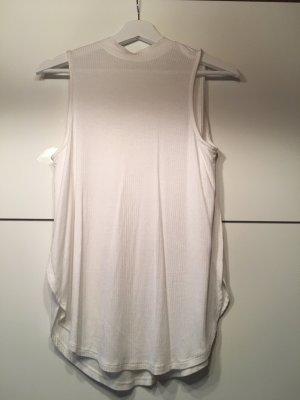 Even & Odd Top schiena coperta bianco