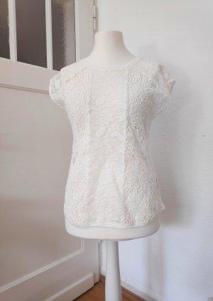 Apanage Koronkowy top biały
