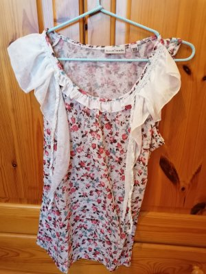 Frill Top white-red