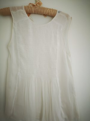Zara Basic Top o kroju litery A w kolorze białej wełny
