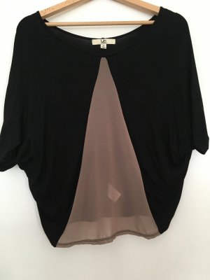 Top with silk detail Seide