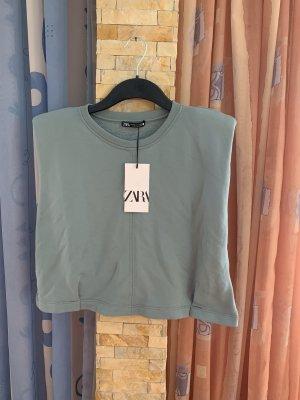 Zara Top cut out azul pálido