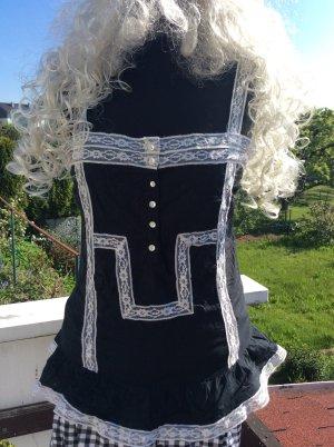 Zara Peplum Top black-white
