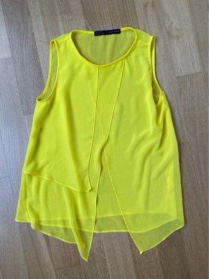 Zara Top con balze giallo