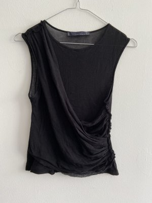 Zara Woman Top básico negro