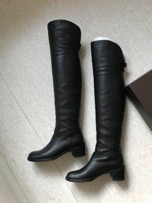 Gucci Cuissarde noir cuir