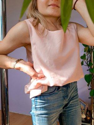 Top zweilagig rosa schulterfrei süß Boho Girly Elegant