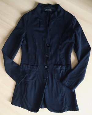 Aust Długa kurtka stalowy niebieski Bawełna