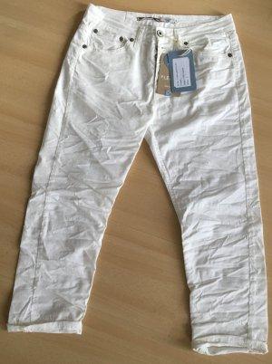 Please Jeans boyfriend blanc coton