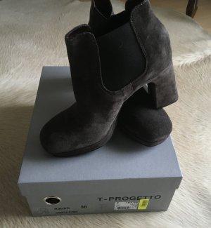 Progetto Slip-on Booties silver-colored-dark grey