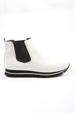 Topmoderne Gabor Booties, weiß-schwarz, Casual-Look, sehr bequem
